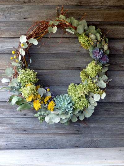 Flower Wreaths created by Hartwood North Farm